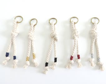 New Rope Knot Colored Keychain || 5 Colors to Choose From
