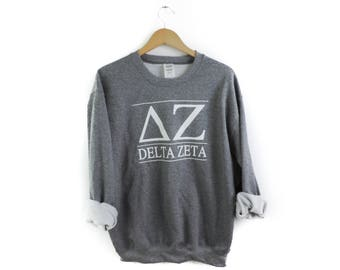 New Delta Zeta Stripe Crewneck Sweatshirt // Size S-2XL // You Pick Color