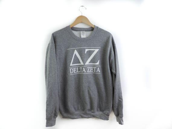 New Delta Zeta Stripe Crewneck Sweatshirt // Size S-2XL // You Pick Color 1tqXvDif