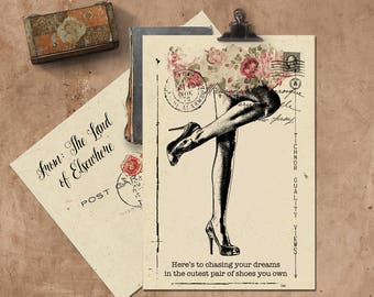 Here's To Chasing Your Dreams . . . Handmade Seeded Paper Card.