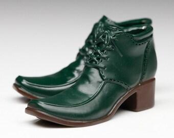 5a35e404619bd Dark green doll boot | Etsy