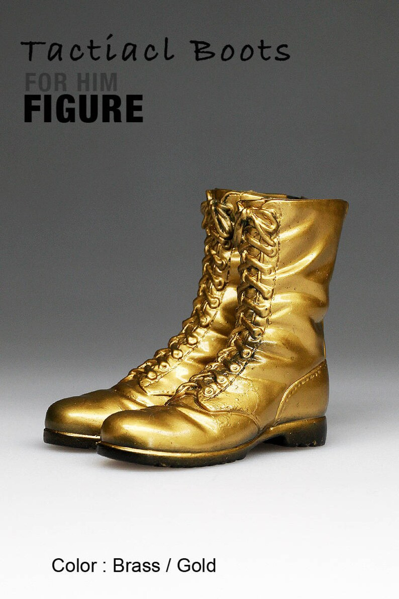 3028f0eb67a28 ms1001-09 Brass/Gold Tactical Boots for 1/6 1 : 6 Figure 12