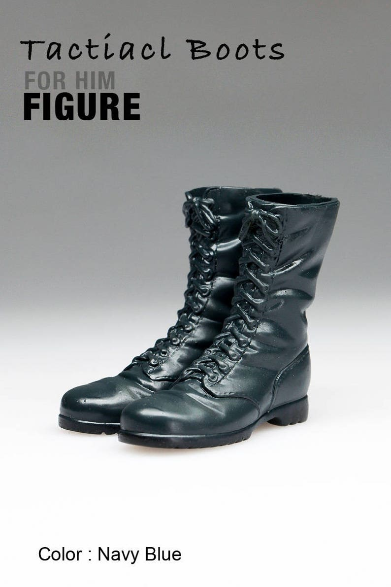 ec387156bed34 ms1001-01 Navy Blue Tactical Boots for 1/6 1 : 6 Action Figure 12