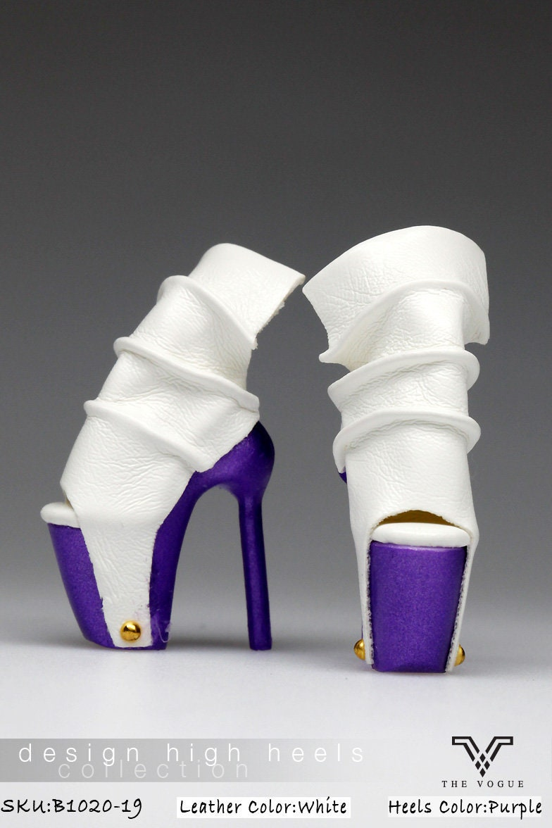 ffddde0ed50ae B1020-19 The Vogue White Purple Rivet Fashion High Heels Shoes for Fashion  Royalty FR2 Poppy Parker 12
