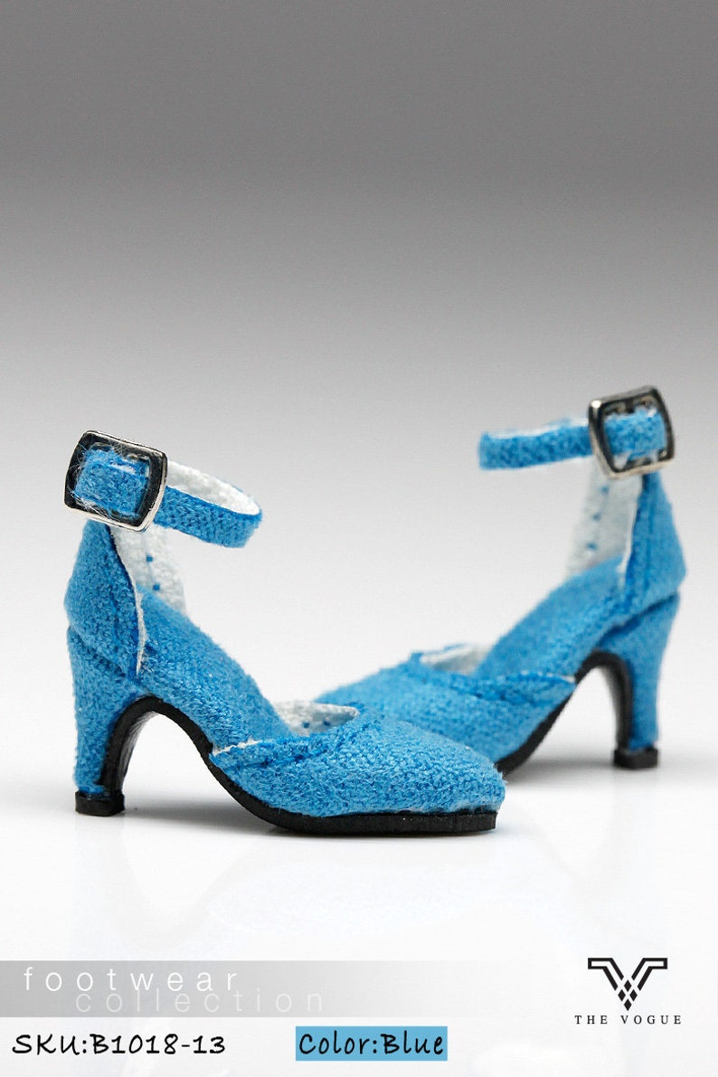 49837b7aae9dc B1018-13 The Vogue Blue Fashion High Heels Shoes for Fashion Royalty FR2  Poppy Parker 12