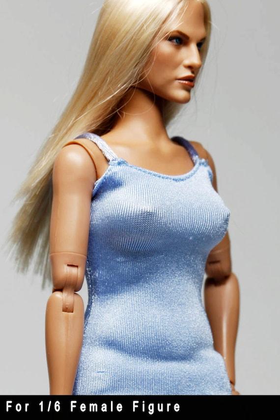 gc0169 lumière bleu ajustement créateur de mode robe moulante pour 1/6 Figure féminine