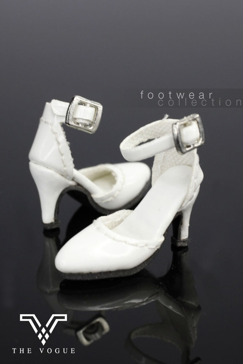 b295c3c255049 B480 The Vogue White Leather Designer Fashion High Heels Shoes for Fashion  Royalty FR2 Poppy Parker 12