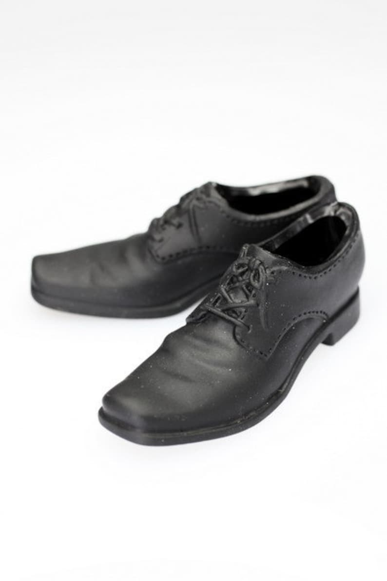 365bd5ee921c4 ms0066 Black Dress Shoes (Plastic) for 1/6 Figure Enterbay Hot Toys TTL 12