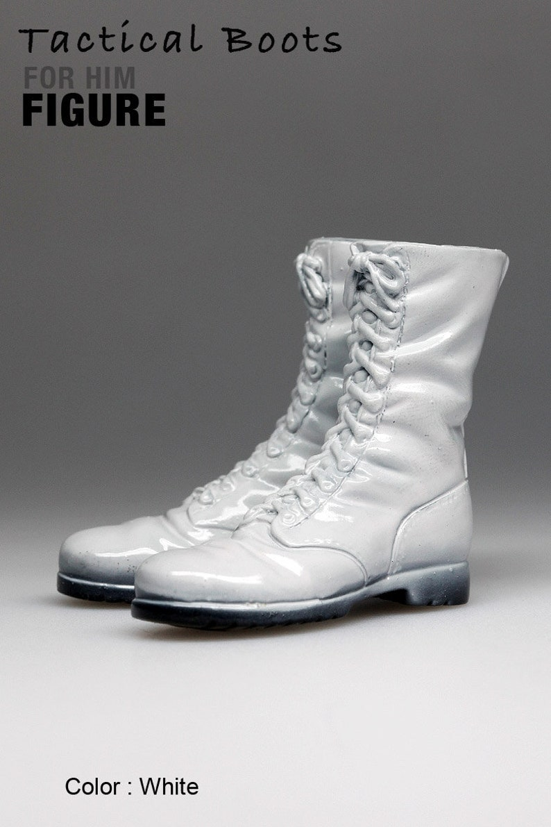 8e2f50eb851d0 ms1001-14 White Tactical Boots for 1/6 1 : 6 Figure 12