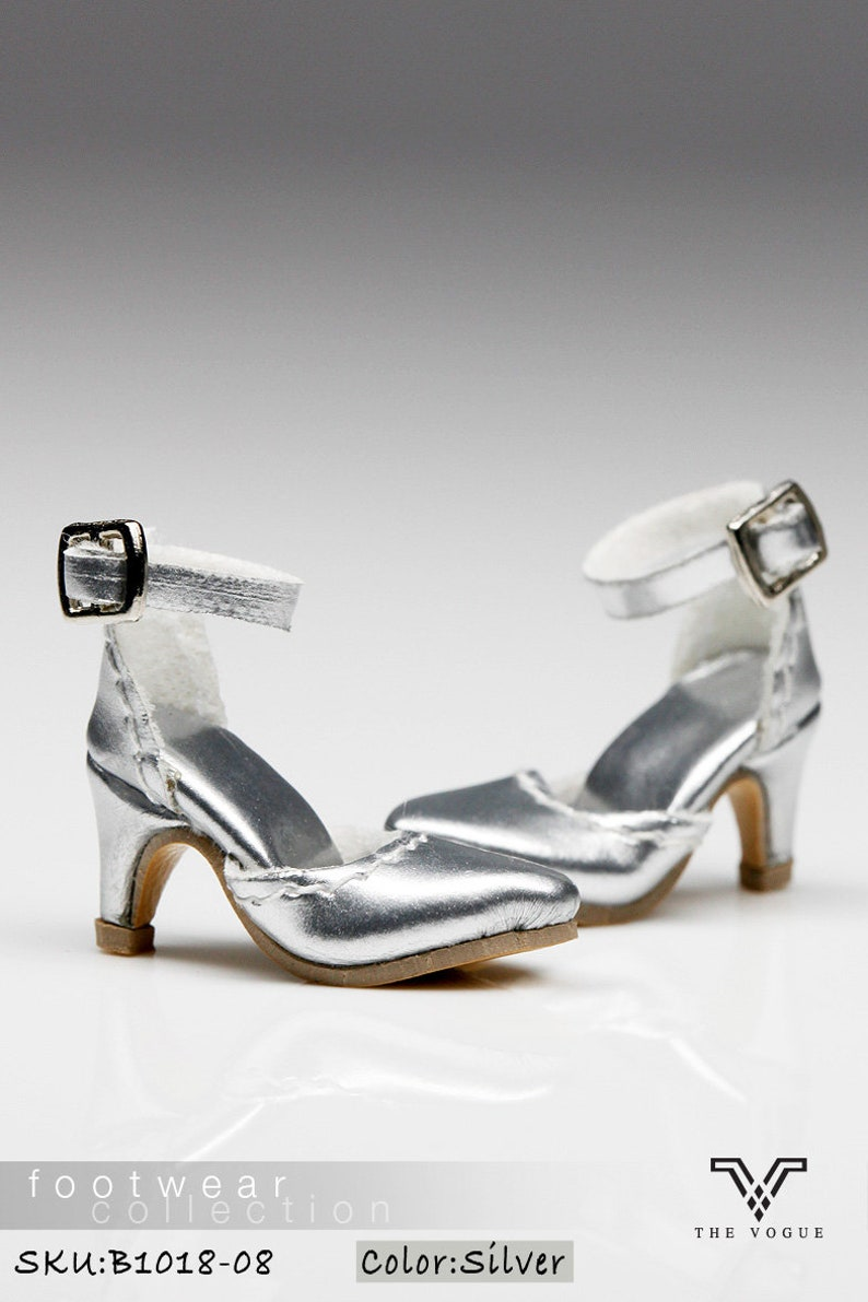 f68f26f3766e0 B1018-08 The Vogue Silver Leather Designer Fashion High Heels Shoes for  Fashion Royalty FR2 Poppy Parker 12