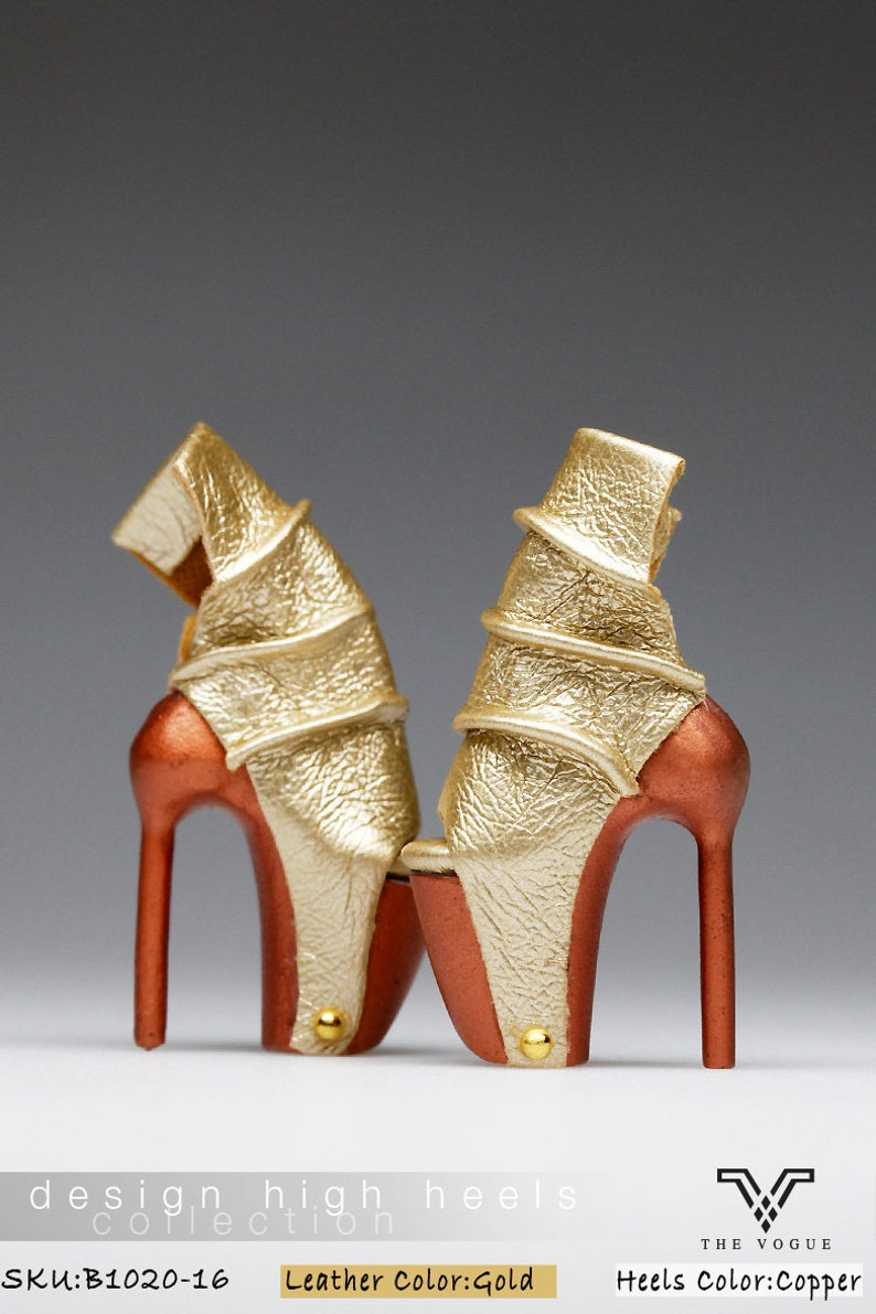55a176713f91e B1020-16 The Vogue Gold Copper Rivet Fashion High Heels Shoes for Fashion  Royalty FR2 Poppy Parker 12