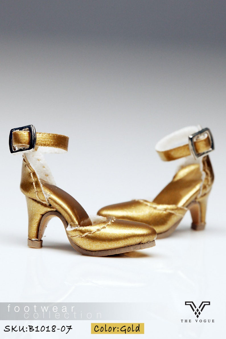 78463635654ba B1018-07 The Vogue Gold Leather Designer Fashion High Heels Shoes for  Fashion Royalty FR2 Poppy Parker 12