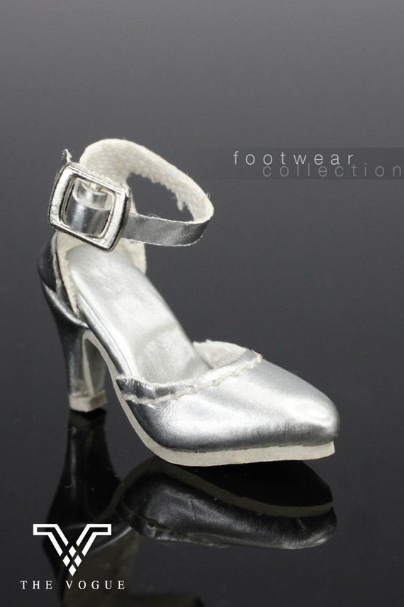 afbad965d1d8e B475 The Vogue Silver Leather Designer Fashion High Heels Shoes for Fashion  Royalty FR2 Poppy Parker 12
