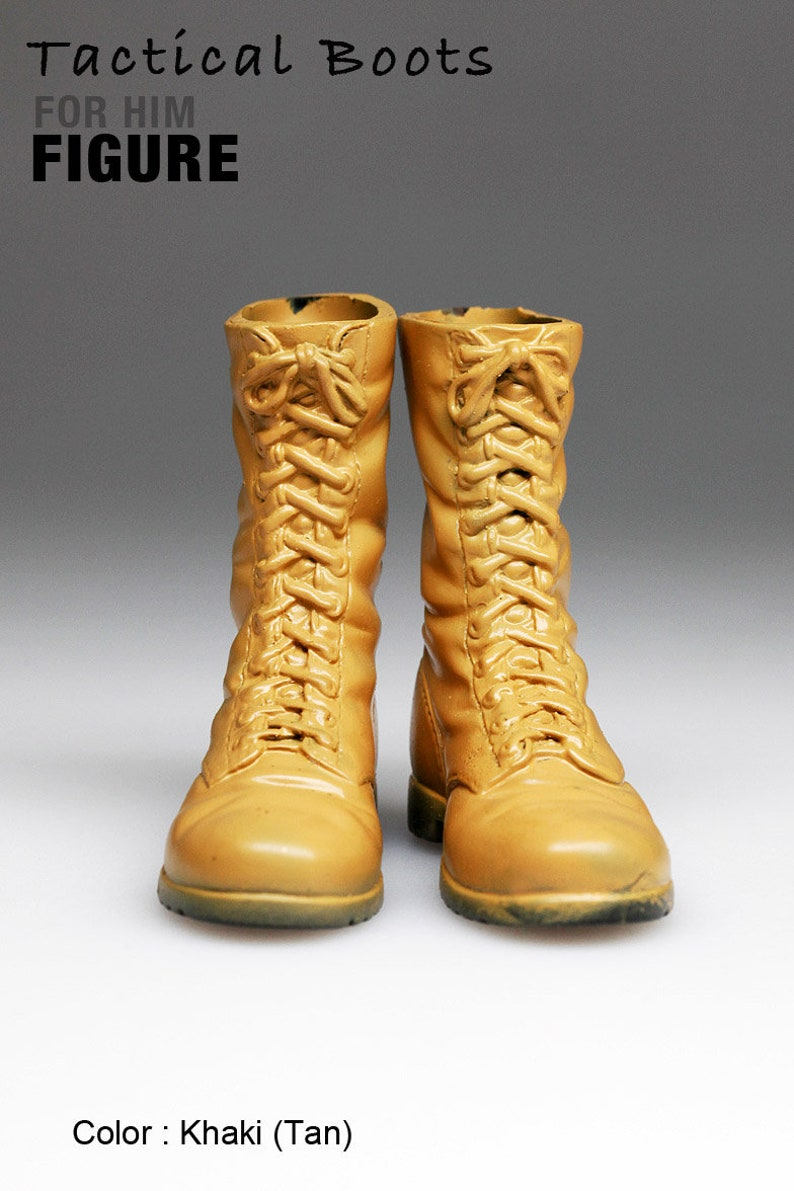 96904541c9e14 ms1001-11 Yellow Tactical Boots for 1/6 1 : 6 Figure 12