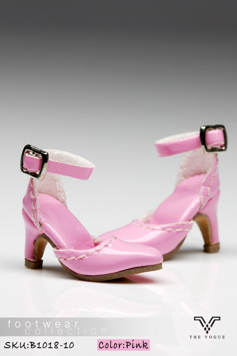 539cf5b39349e B1018-10 The Vogue Pink Leather Designer Fashion High Heels Shoes for  Fashion Royalty FR2 Poppy Parker 12