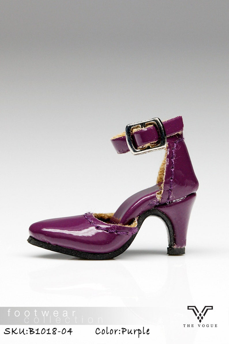 56f69b022d42f B1018-04 The Vogue Purple Leather Designer Fashion High Heels Shoes for  Fashion Royalty FR2 Poppy Parker 12