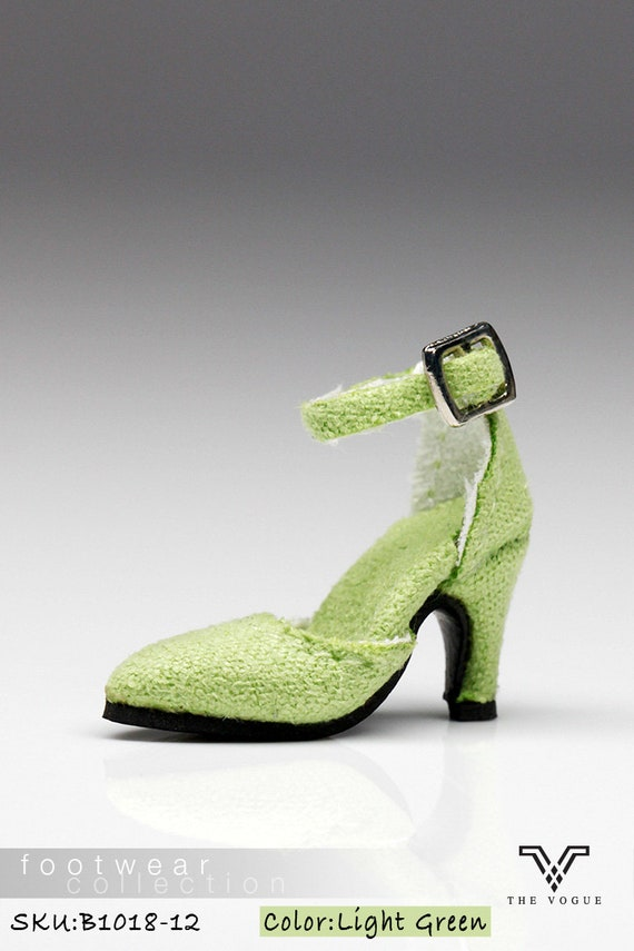c8ea6c8d7eb94 B1018-12 The Vogue Lt. Green Fashion High Heels Shoes for Fashion Royalty  FR2 Poppy Parker 12