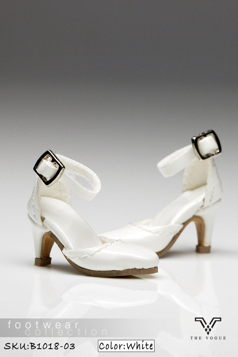 de0b7843d0d35 B1018-03 The Vogue White Leather Designer Fashion High Heels Shoes for  Fashion Royalty FR2 Poppy Parker 12