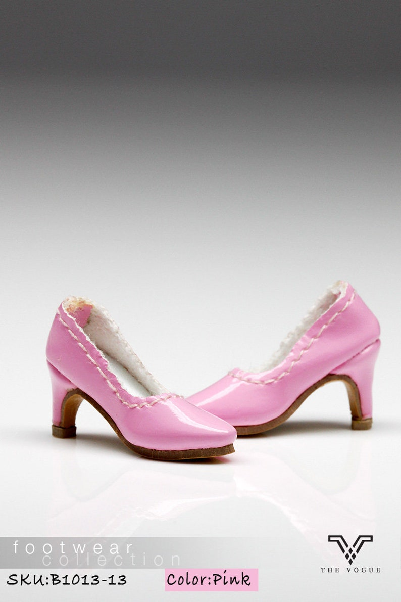 3f8d33b73eb68 B1013-13 The Vogue Pink Fashion High Heels Shoes for Fashion Royalty FR2  Poppy Parker 12