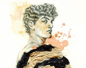 Stellan. Giclee print from graphite drawing.