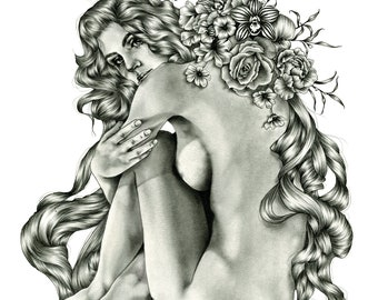 Francoise. Archival giclee print from graphite drawing.