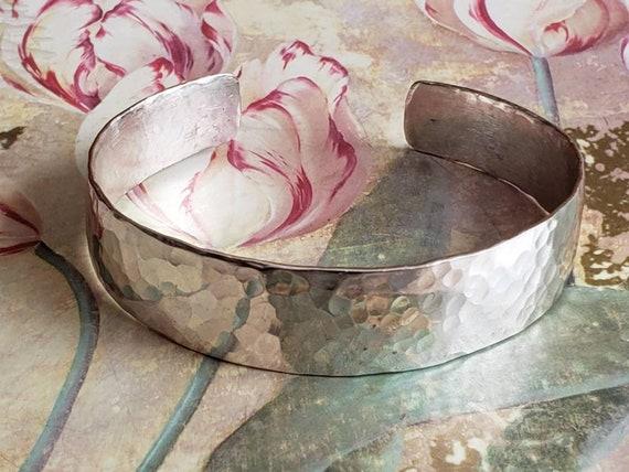 Vintage Sterling Silver Hammered Cuff Bracelet