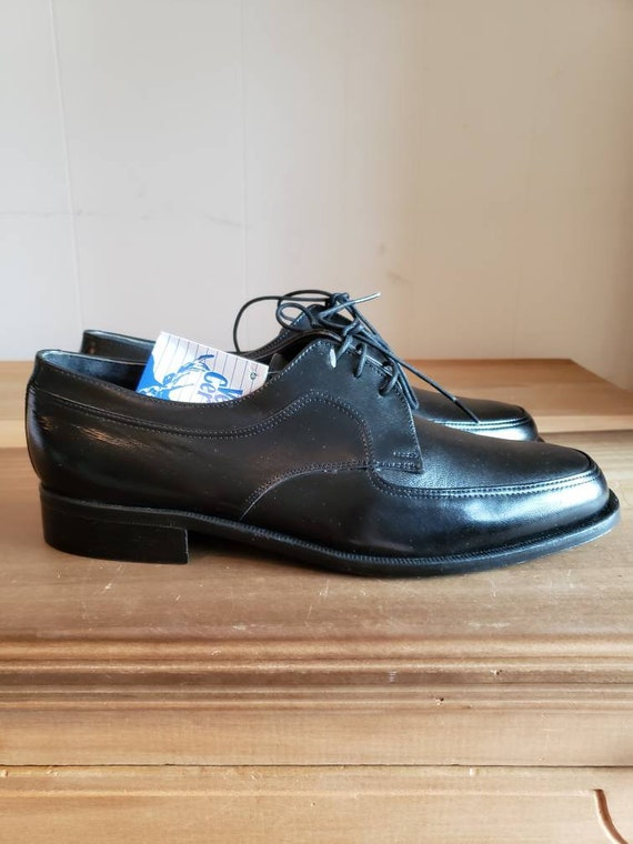 Vintage Never Worn Greek Black Deer Leather Mens S