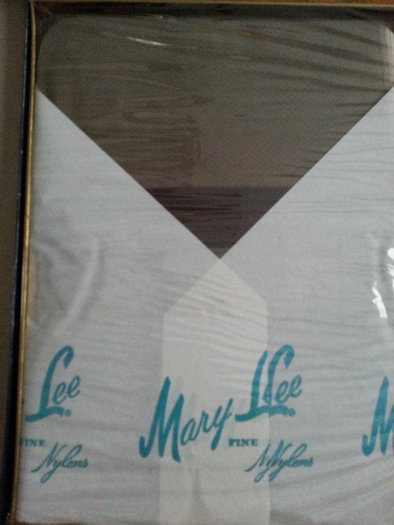 Vintage Dead Stock Mary Lee Micro Runguard Black Pearl Nylon Stockings Three Pairs Never Worn Original Box Size 10 Shrink Wrap