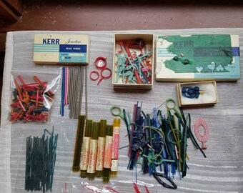 Vintage Large Lot of Wax Wire Wax Sheets Jewelry Wax Jeweler Supplies Kerr