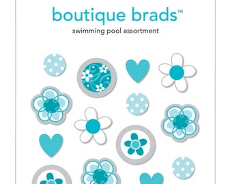 Swimming Pool Assortment Boutique Brads #1905 by Doodlebug