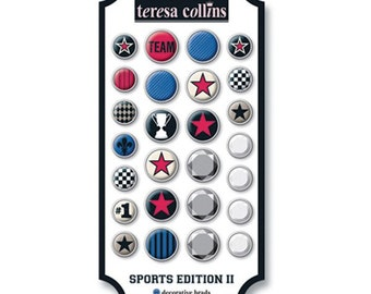 Sports II Decorative Brads byTeresa Collins