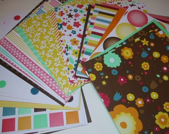6x6 paper pack CONFETTI Party Papers by American Crafts 32 Sheets