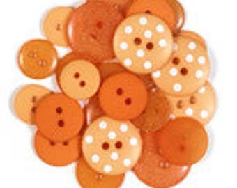 Tangerine Assortment Buttons by Doodlebug 454