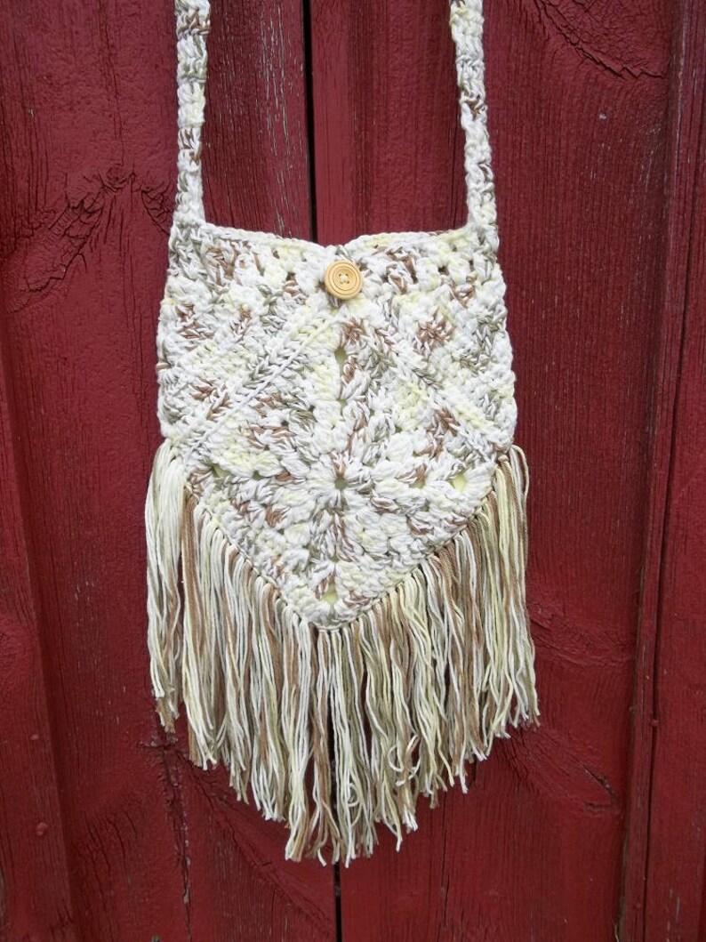 d6df78600 Crochet Boho Bag Fringed Bag Cross Body Bag Boho Chic Bag | Etsy