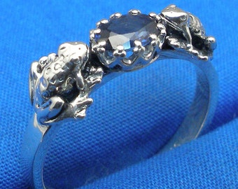 Precious Crystals /& Stones Virgo Libra September Birthstone Lepidolite Spiritual Awakening Metaphysical Black Tourmaline Crystal Ring