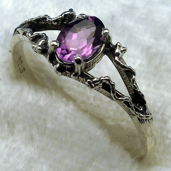 fantasy fairy magic elf elves October birthstone Pink Tourmaline  Mythological Stone Protector Ring hand crafted recycled sterling silver