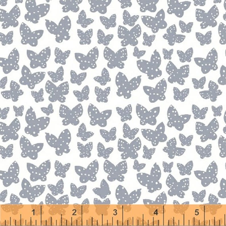 Lotta Jansdotter Fabric  Lilla  Minna in Grey  Blue image 0