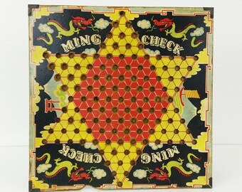 Vintage Ming Check Game Board