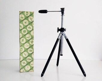 Vintage kamera stativ aluminium metallständer teleskop