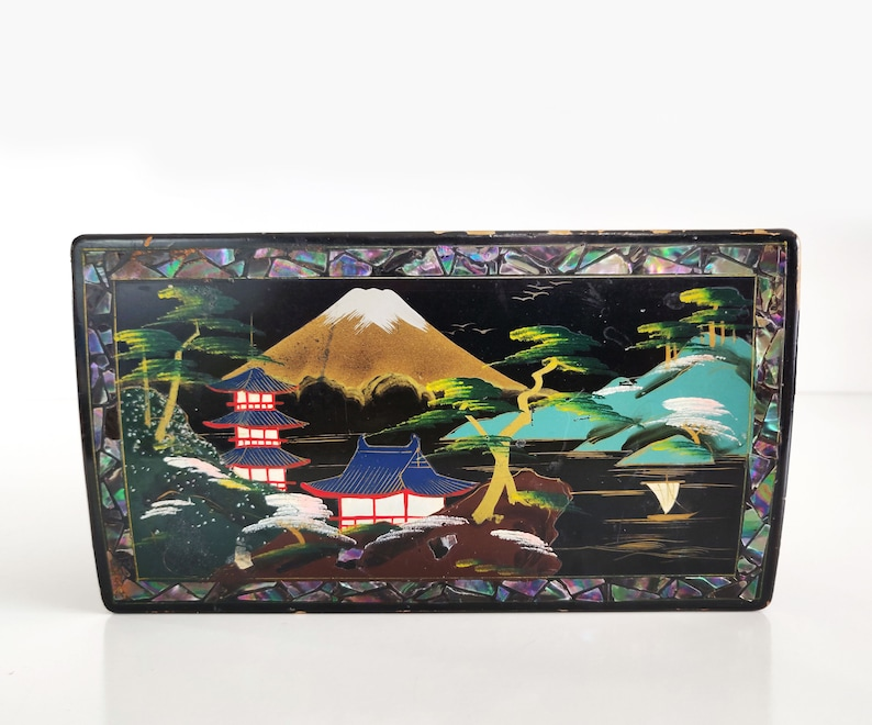 Vintage Japanese Jewelry Box for repair  upcycle