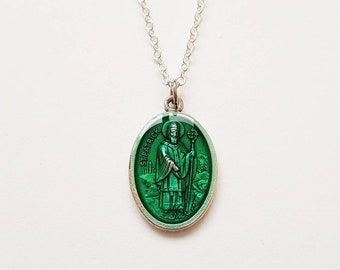 Saint Patrick necklace with pendant - st. Patricksday - gift for Irish Friends