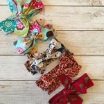 """Fabric Hair Wrap, Fabric Bow 5"""" wide, Infant Head Wrap, Made to Match Sweet Sophia Designs"""