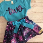 Twinkle Twinkle Little Star Birthday, Space Galaxy Birthday Outfit, Purple and Sky Blue, Outer Space Outfit, Outerspace Birthday Theme Girl