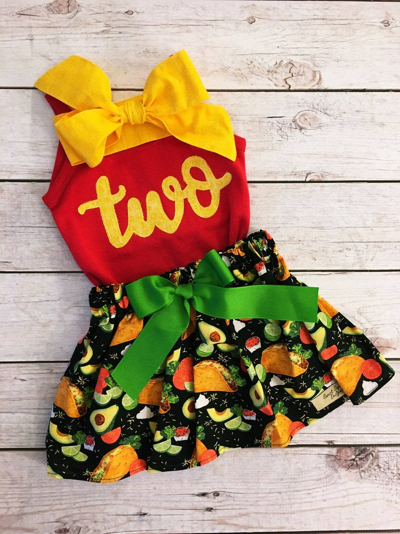 Taco Birthday Outfit ANY BIRTHDAY Taco Twosday Mexican image 0