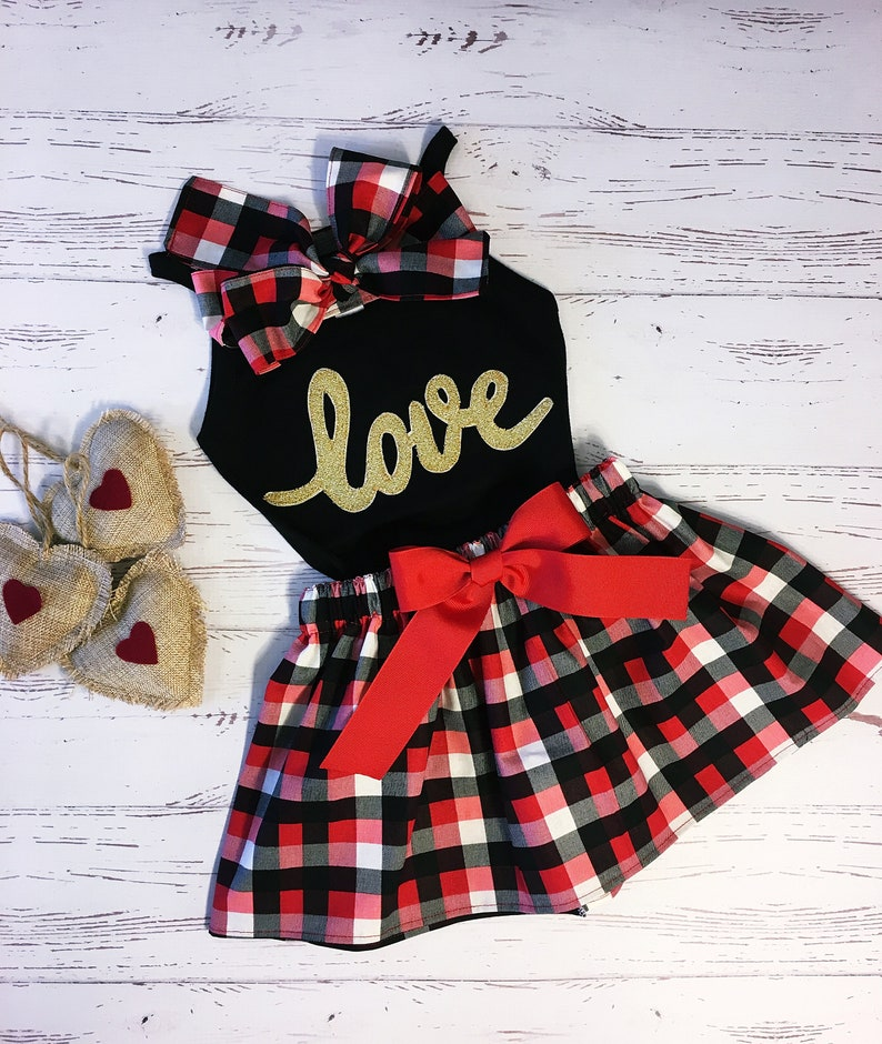 Valentine Clothing for Girls Valentine Outfit Children image 0