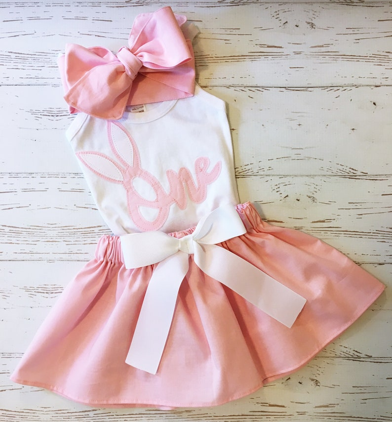 Some Bunny is One Birthday Outfit Easter Birthday Outfit image 0