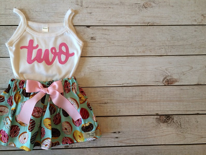 Two Sweet Donut Birthday Outfit Sweet One Donut Birthday image 0