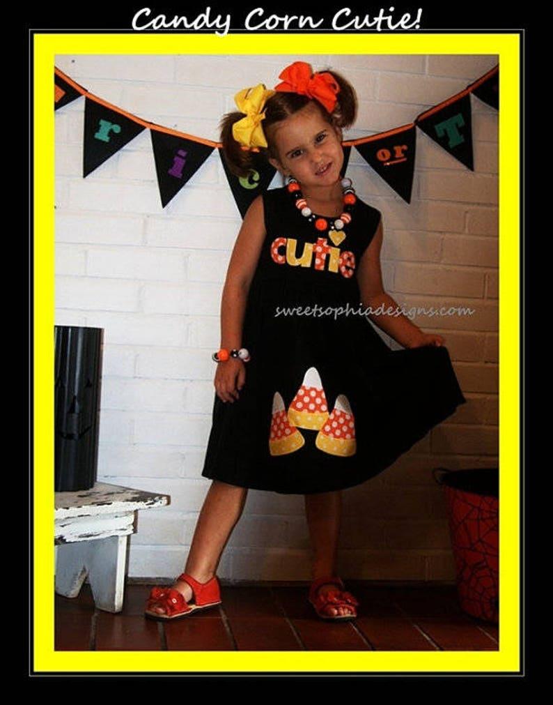 Toddler Girl Halloween Dress Cutie Applique Dress for Girls image 0