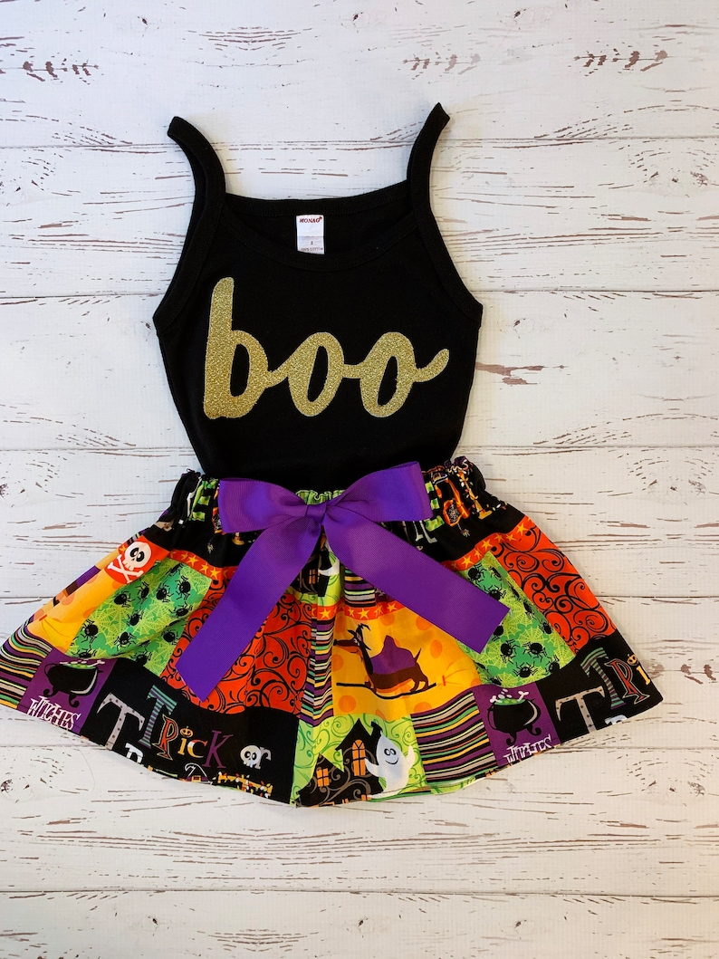 Halloween Skirt Outfit for Girls Trick or Treat Baby Girls image 0