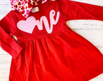 Valentine Birthday Dress for Girls, First Birthday, Valentine Birthday Girl, Valentine Dress, Valentine Birthday Outfit Infant Girl